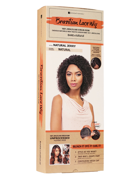 Brazilian Remi Wig - 100% Human Hair - Natural Jerry