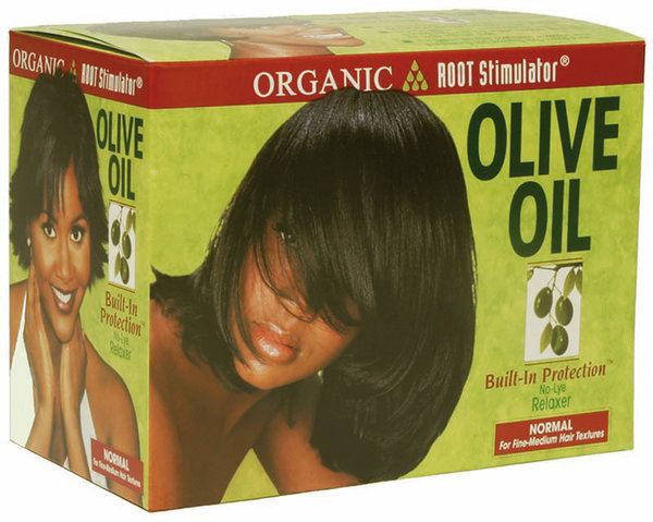 Organic Root Stimulator - Olive Oil Build-In Protection - No-Lye Relaxer - Normal