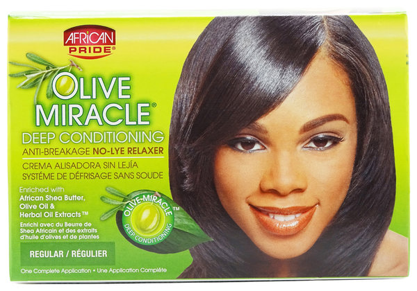 African Pride - Olive Miracle Deep Conditioning - Anti-Breakage No Lye Relaxer - Regular