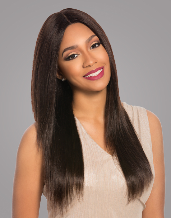 Perücke - Sensationnel - Brazilian Swiss Lace Wig - Natural Yaki 4x4 - 100% Human Hair
