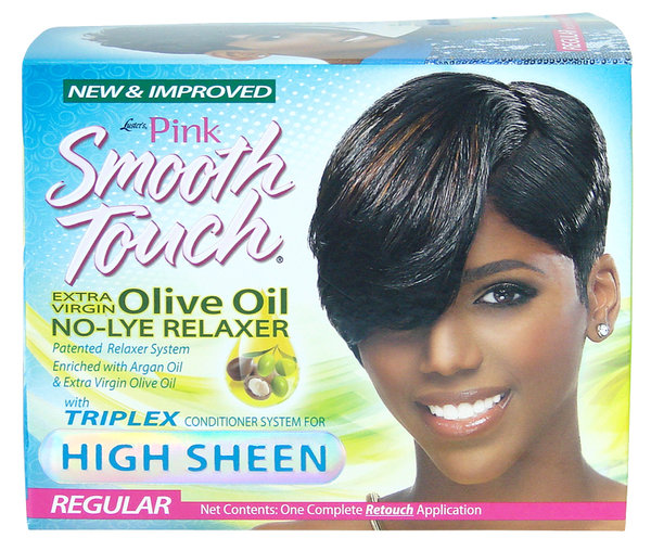 Pink Smooth Touch - Olive Oil No-Lye Relaxer - Kit Regular